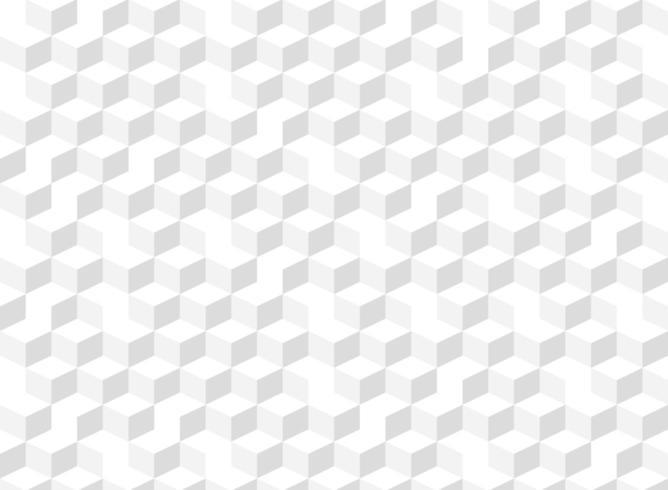 Resumen 3d cubo degradado gris de patrones sin fisuras vector