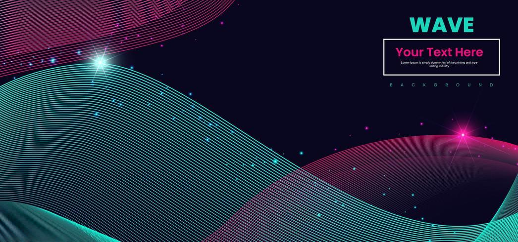 Linea d'onda astratta sfondo colorato