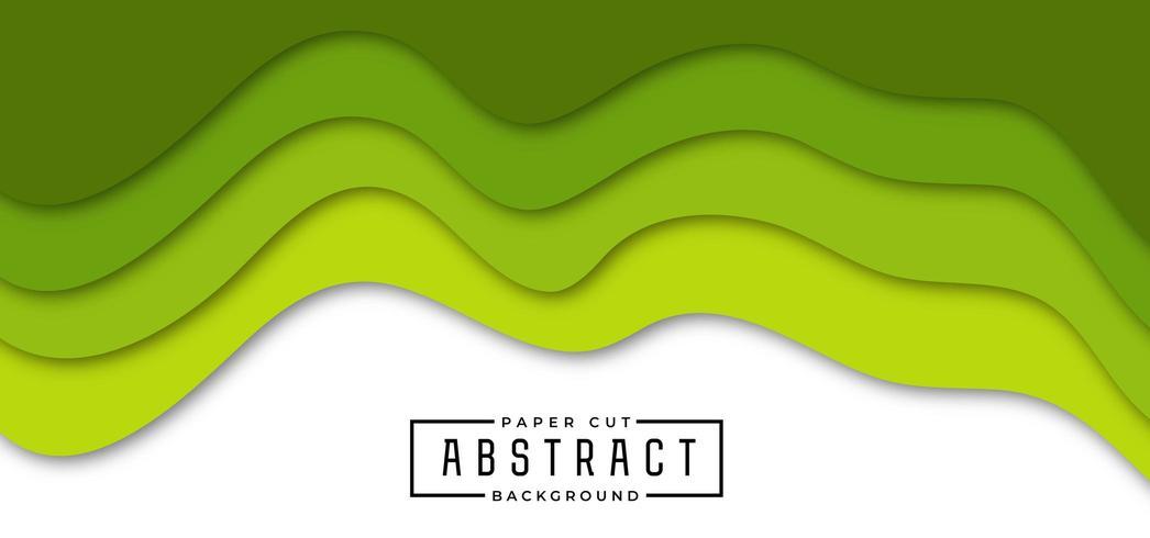 Stylish Green Paper Cut Background