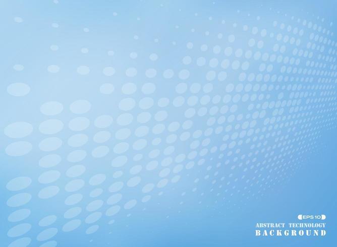 Fond abstrait tech futuriste de point bleu