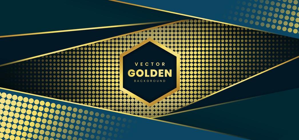 Fondo de lujo con patrón de semitono dorado