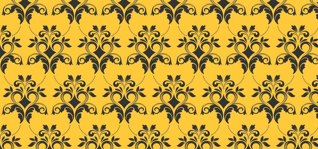 Modèle sans couture jaune européen