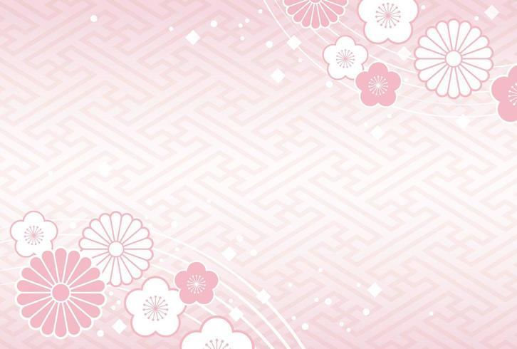 Modello di carta di Capodanno giapponese con motivi tradizionali.