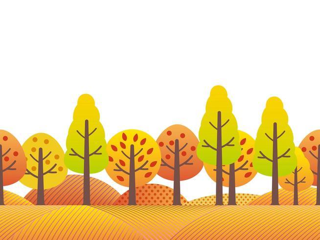 Nahtlose Landschaftslandschaft im Herbst.