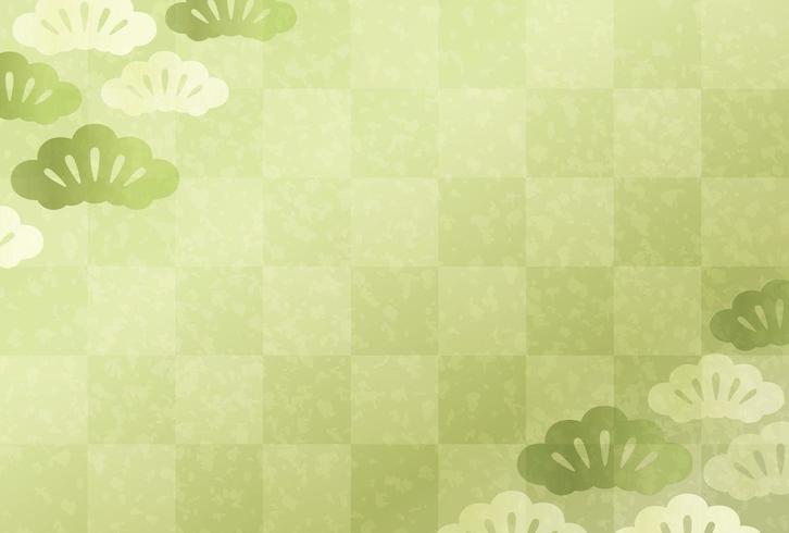 Modello giapponese di carta verde di Capodanno
