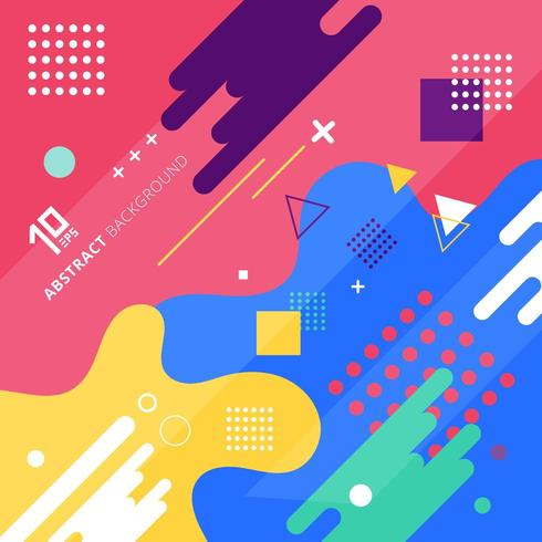 Design géométrique coloré