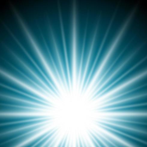 Lighting effect sunburst or sunbeams on dark blue background.