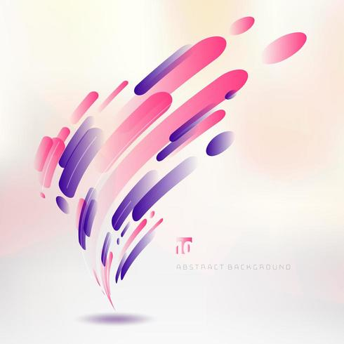 Abstract technology pink and purple geometric rounded lines vector