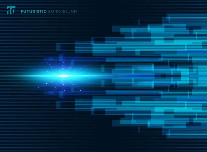 Abstract blue virtual technology concept futuristic background vector