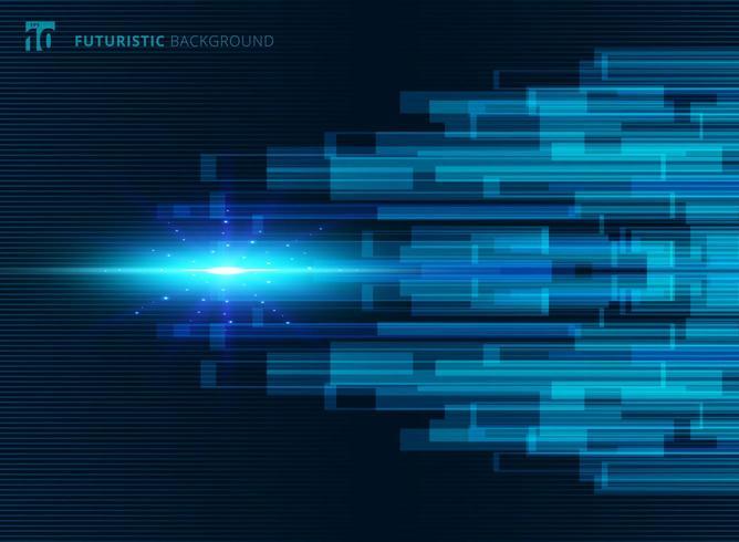 Abstrakt futuristisk bakgrund för blå virtuell teknologibegrepp