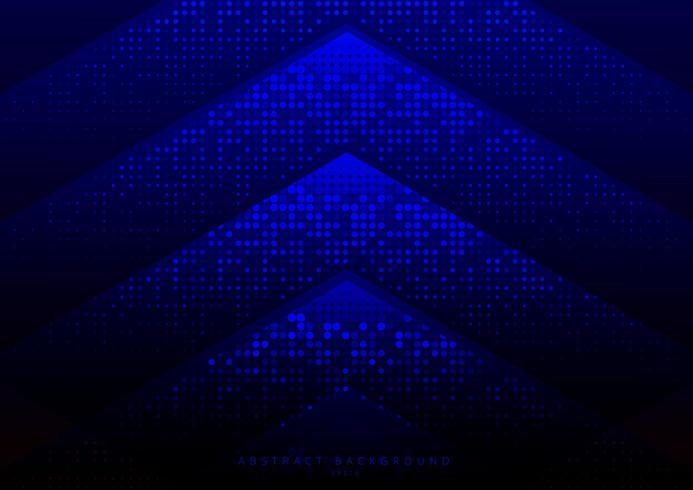 Triángulo geométrico abstracto con textura de semitono de patrón de puntos