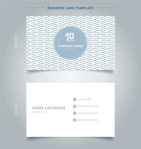 Business card with geometric wave vector