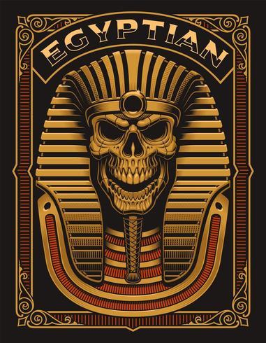 Cartaz egípcio do crânio
