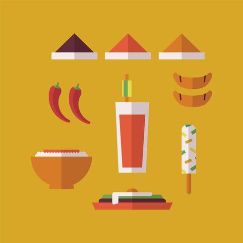 Indian Typical Food vector