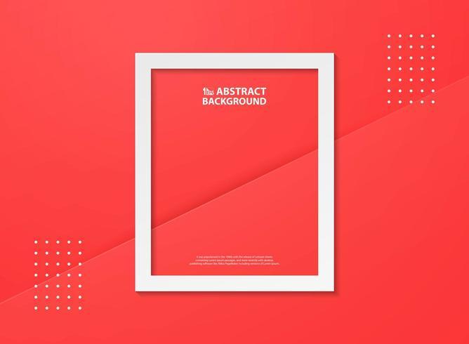 Priorità bassa astratta di colore rosso di gradiente con il blocco per grafici bianco