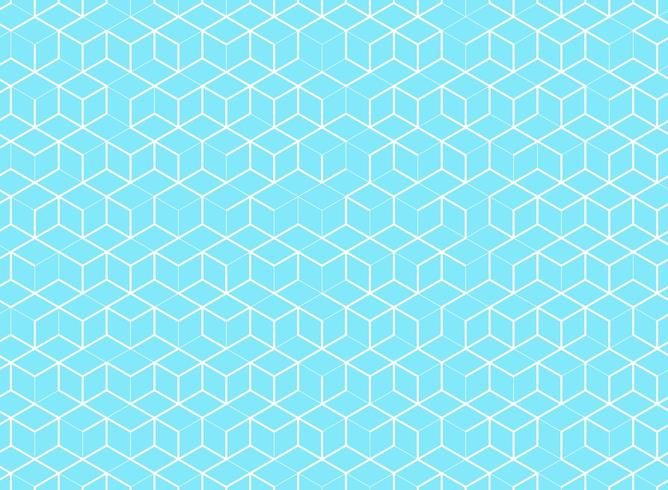 Abstract cube pattern on blue background