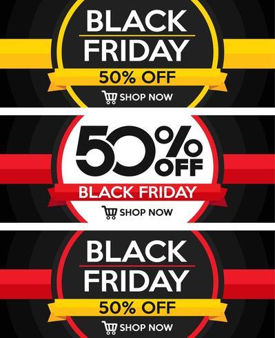 Black Friday Sale Design Set vector