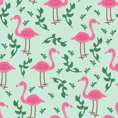 Flamingo tropisch patroon