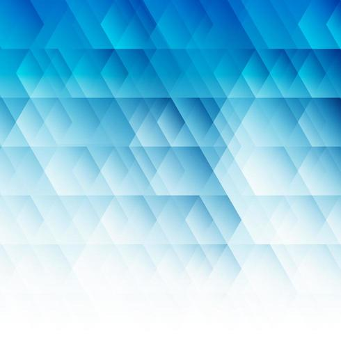 Abstract geometric hexagon pattern blue background vector