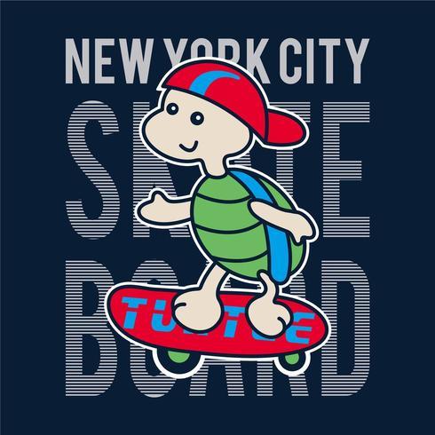 Projeto do skater da tartaruga de NYC