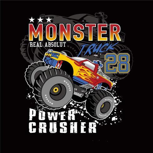 design di abbigliamento monster truck club