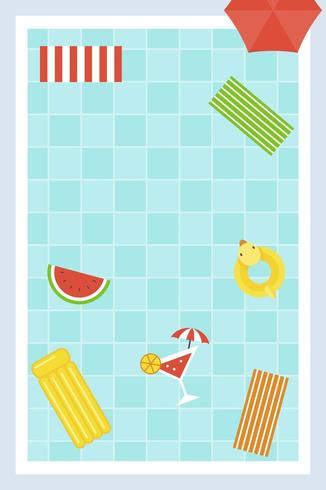 Swimming pool  Poster with summer element