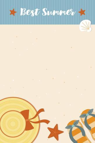 Miglior poster di scena di spiaggia estiva