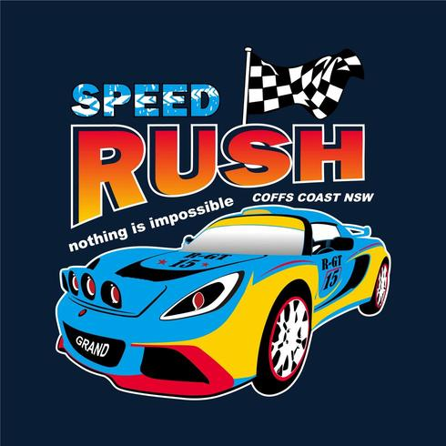 Illustration de la voiture de course Speed Rush
