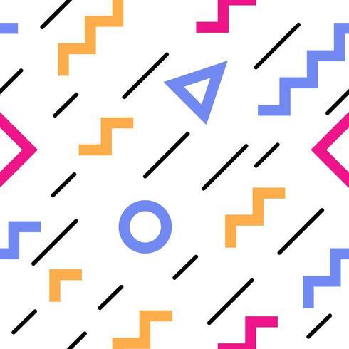 Färgglada abstrakta geometriska sömlösa mönster vektor