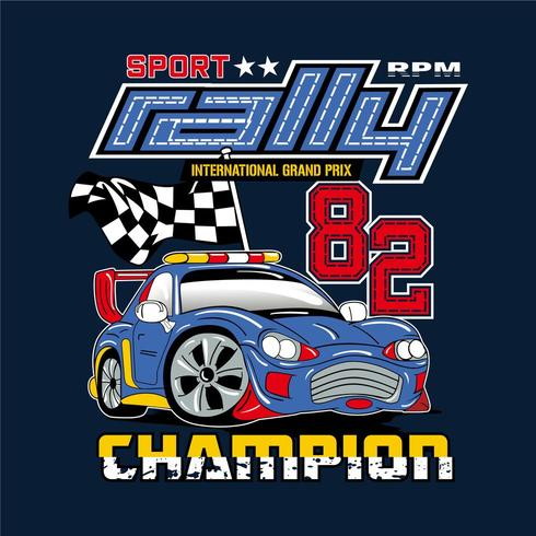 Rally Champion bilillustration