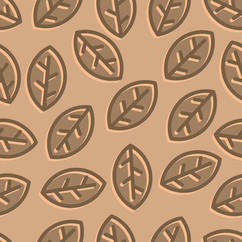 brown leaves pattern