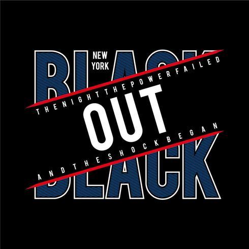 Black Out Trendy New York Camiseta Urban Design
