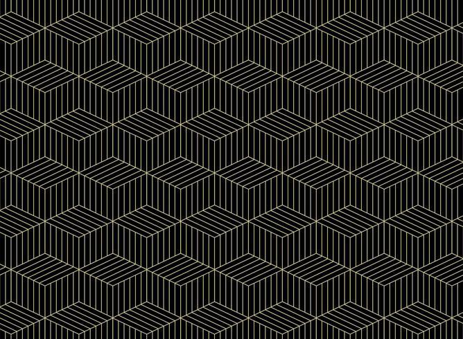 Abstrakt mönster för geometriska linjer i guld vektor