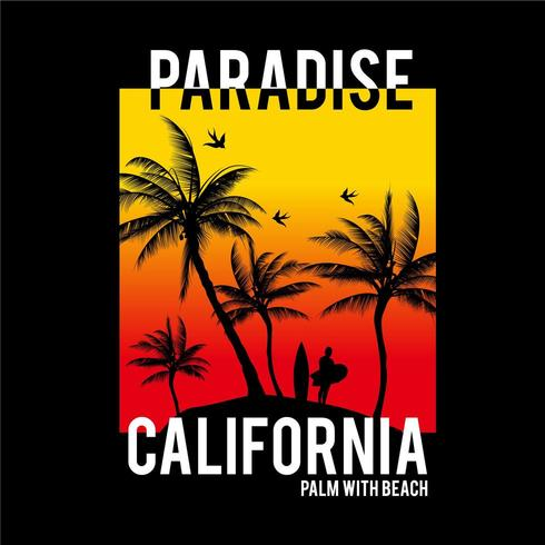 Kalifornien Paradise Palm Typografidesign