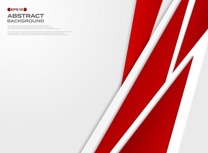 Abstracte minimalistische rode geometrische gesneden papier achtergrond