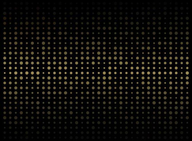 Abstract gold dots digital grid pattern