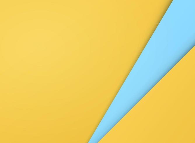 Abstrakter einfacher Schnittpapiereffekt-Steigungsgelber und blauer Hintergrund