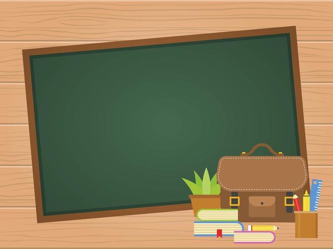 Leeg schoolbord Terug naar schoolaffiche