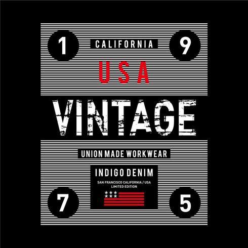 Diseño de tipografía Grunge vintage de Estados Unidos