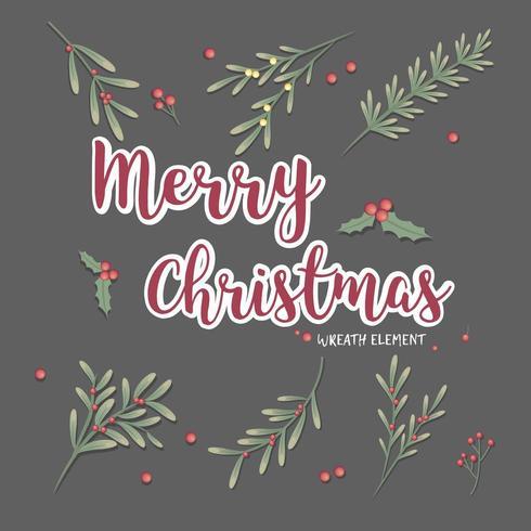 uppsättning julkrans