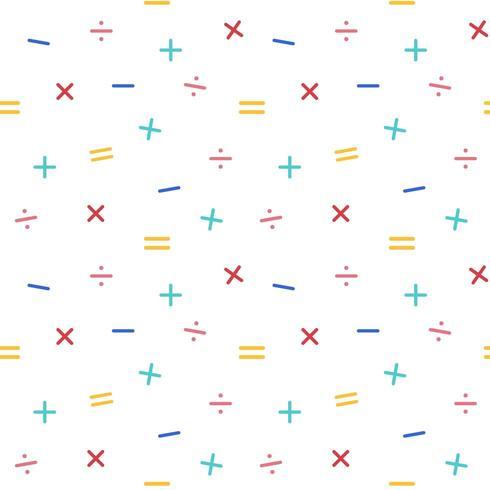 Modèle sans couture de symboles mathématiques vecteur