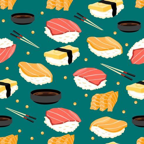 seamless pattern di sushi