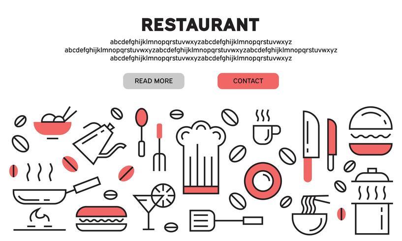 Restaurant de destination vecteur