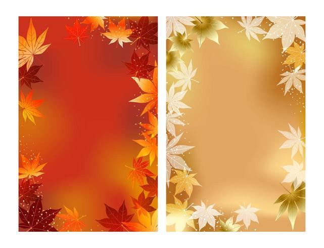 Satz von zwei Herbstvektorhintergrund I