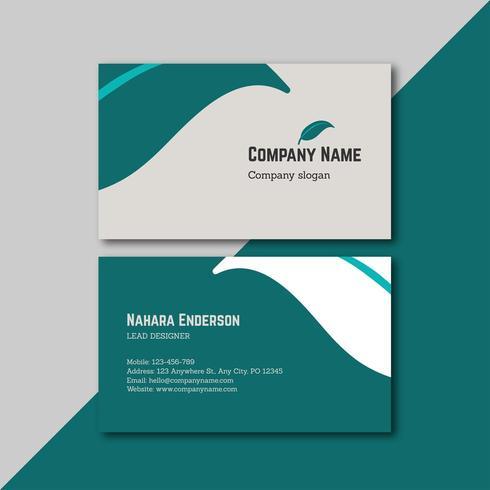 Green Leaf Business Card Design