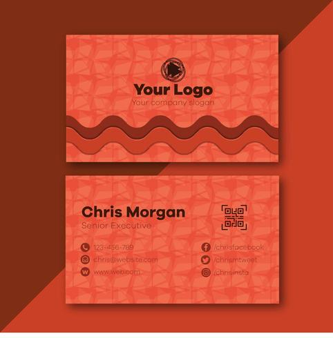 Wavy Pattern Simple Business Card