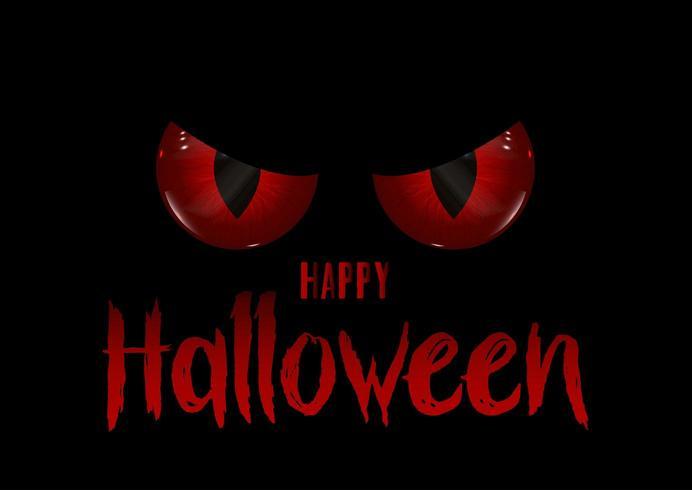 Felice Halloween con gli occhi diabolici