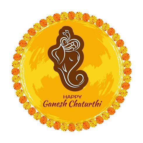 Fondo circolare festivo decorativo di Ganesh Chaturthi