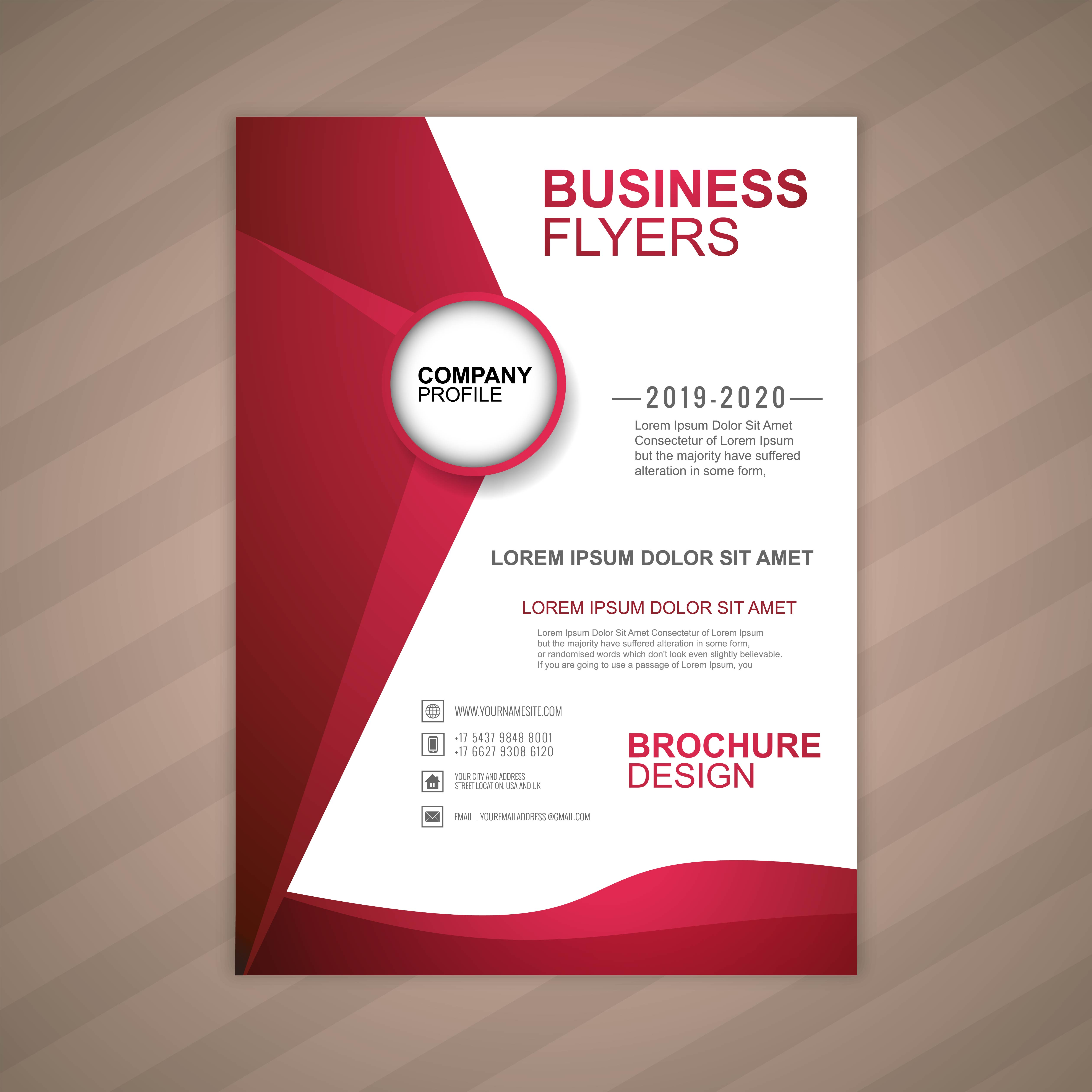 Wavy Business Flyer Template 678717   Download Free ...