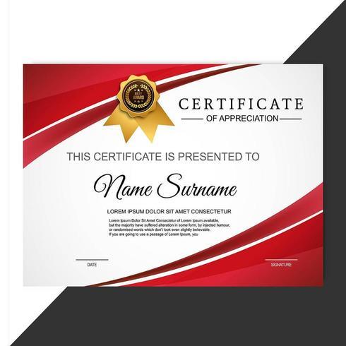 certificate of appreciation award template